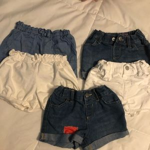 5 pairs of 18-24 month toddler girl shorts